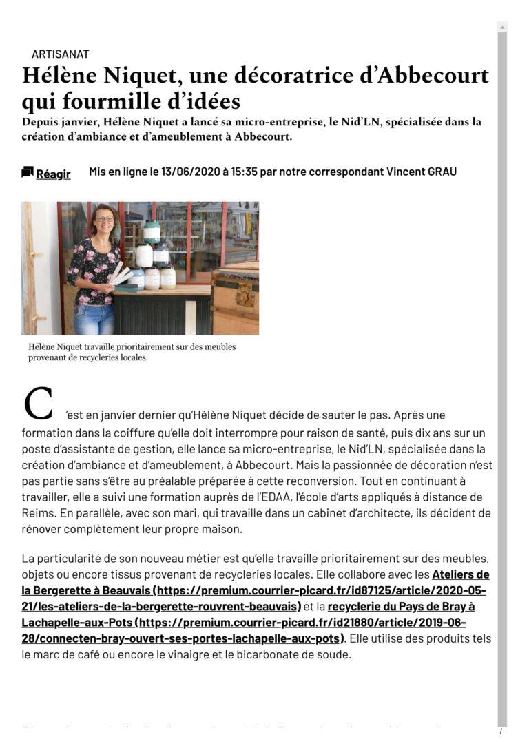 LE_NID_LN ARTICLE COURRIER PICARD ATELIER